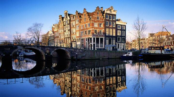 Amsterdam Nice Morning Scene