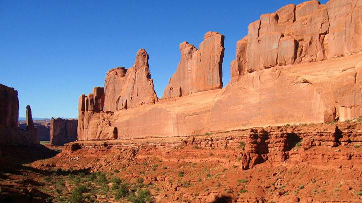 Arches National Park Scene In Utah