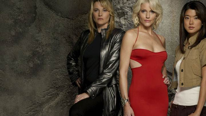 Battlestar Galactica – Lucy Lawless, Grace Park and Tricia Helfer