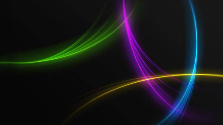 Beautiful Colorful Lines on Black Background