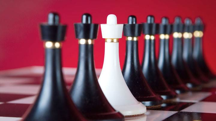 Black And White Chess Closeup