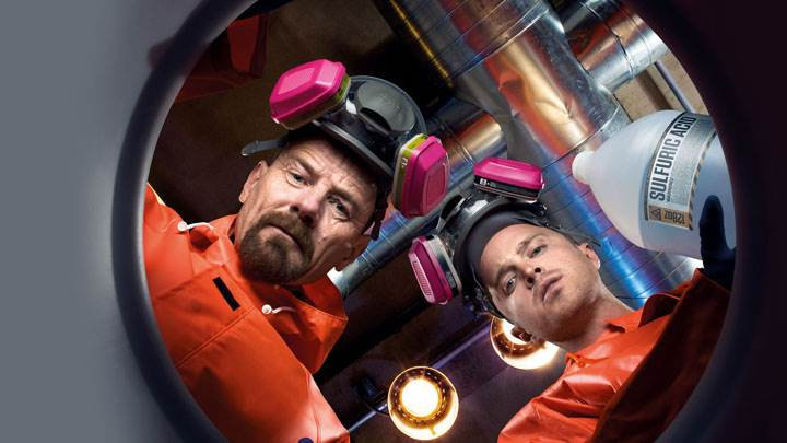 Breaking Bad – Bryan Cranston And Aaron Paul in Lab