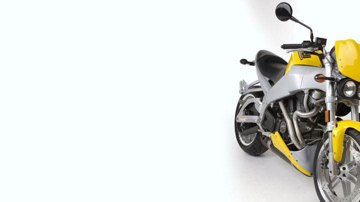 Buell XB9S Lightning 2003 Front Pose in Yellow