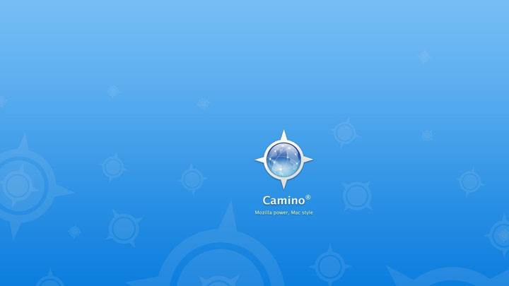Camino LoGo – Mozilla Power, Mac Style on Blue Background