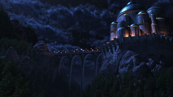 Castle Night Scene