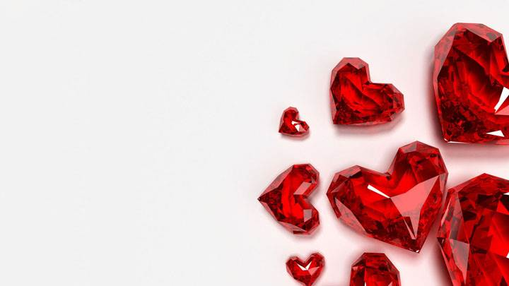 Costly Diamond Heart on White Backround
