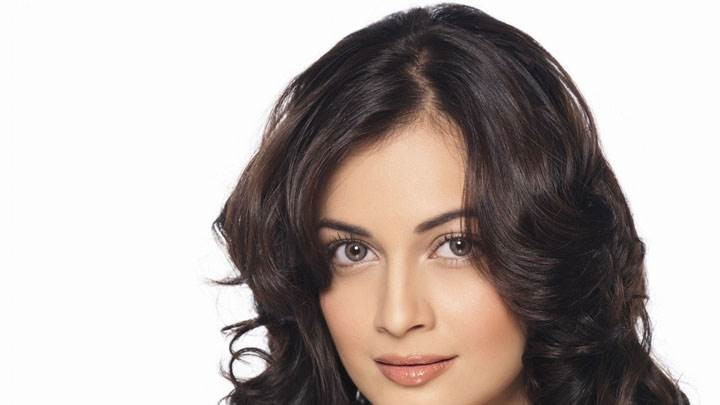 Dia Mirza Looking Front Cute Face Closeup And White Background