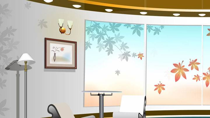 Digital Interior – Beautiful Colorful Interior Of Room