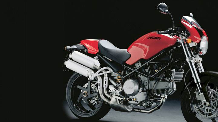 Ducati – Monster S2R-01 in Red Side Pose And Black Background