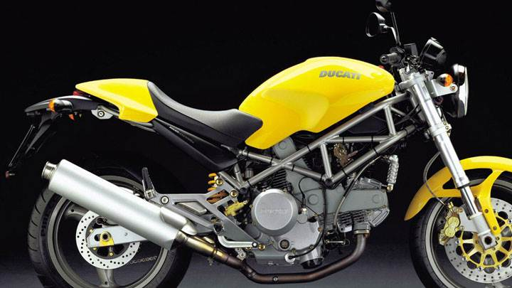 Ducati Monster 800 2004 in Yellow Side Pose