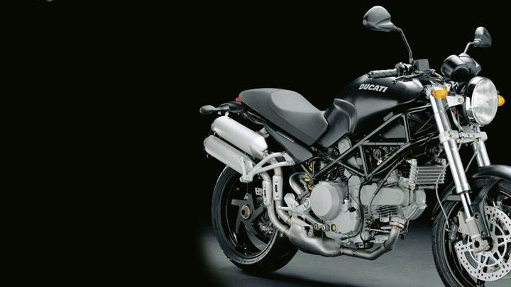 Ducati Monster S2R-02 in Black Side Pose