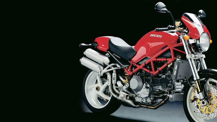 Ducati Monster S4R 2005 in Red Side Pose