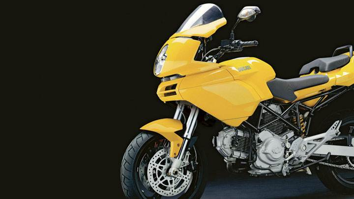 Ducati Multistrada 620 2005 in Yellow Side Pose