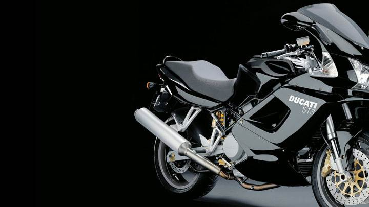 Ducati ST3 2005 in Black And Black Background
