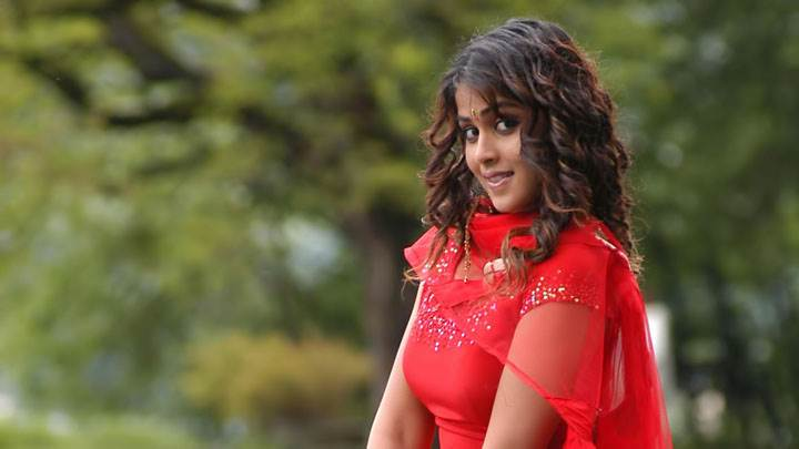 Genelia D'souza Side Naughty Pose In Red Dress