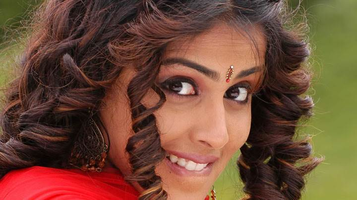 Genelia D'souza Smiling Cute Face Closeup In Red Dress