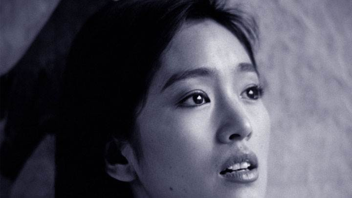 Gong Li Black And White Sad Side Face Closeup