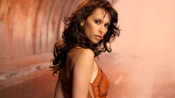 Jennifer Love Hewitt In Red Dress Photoshoot