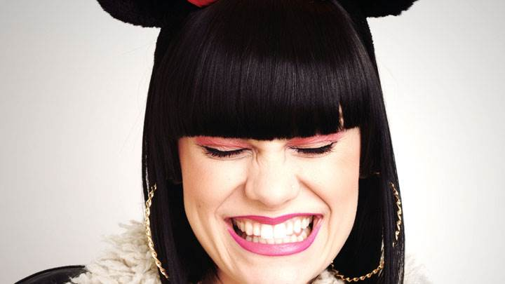 Jessie J Naughty Smiling Face Closeup