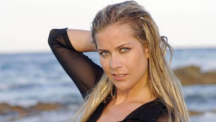 Kate Lawler In Black Dress Wet Hairs Photoshoot At Sea Side