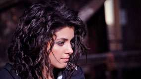 Katie Melua In Black Dress Side Face Closeup