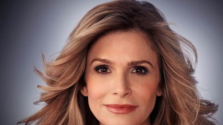 Kyra Sedgwick Red Lips And Cute Eyes Face Closeup