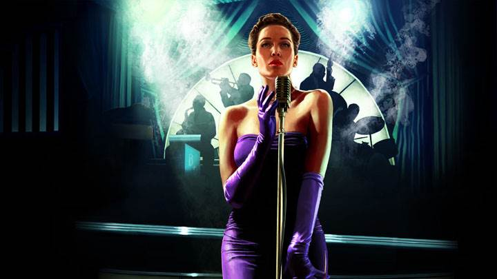 L.A. Noire – Elsa Lichtmann Singing in Purple Long Dress