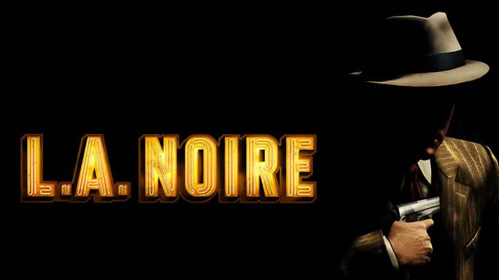 L.A. Noire – Yellow Logo N Cole Phelps Black Black Backgound