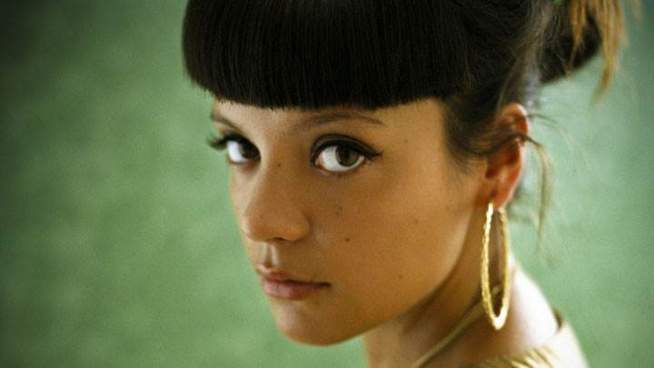 Lily Allen Looking Side And Side Face Closeup