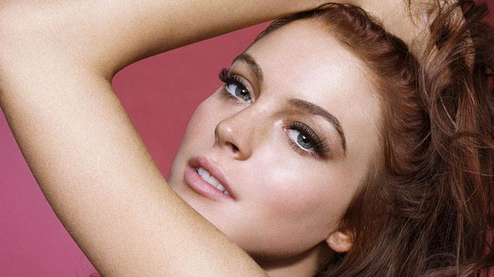 Lindsay Lohan Cute Eyes Looking Front Face Closeup