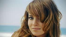 Lindsay Lohan Smiling Cute Face Closeup