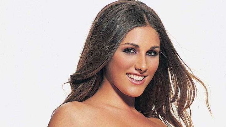 Lucy Pinder Smiling And Cute Face Closeup And White Background