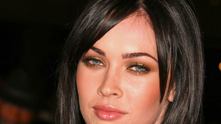Megan Fox Wet Lips And Cute Eyes Face Closeup