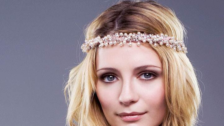 Mischa Barton Smiling And Band On Head Face Closeup