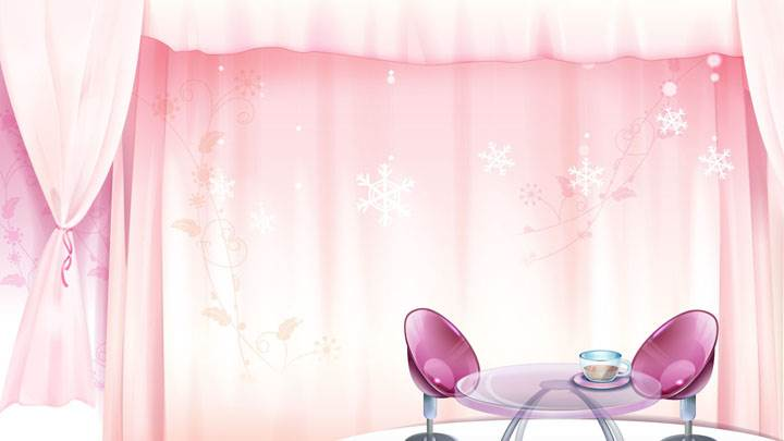 Pink Curtains And Pink Chairs Interior