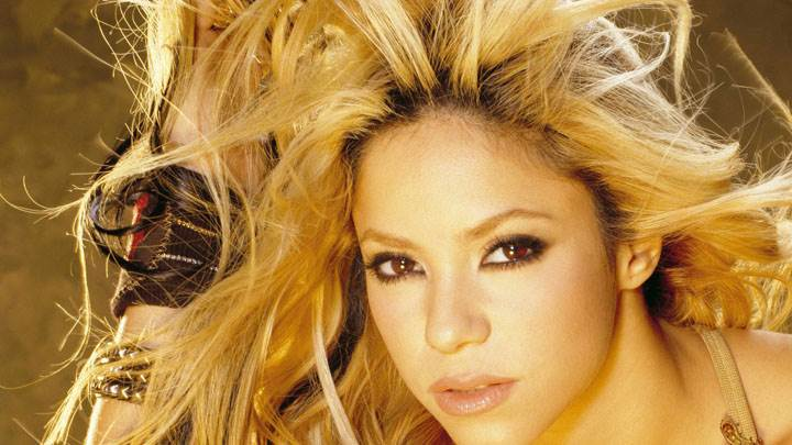 Shakira Looking Front Cute Face Closeup