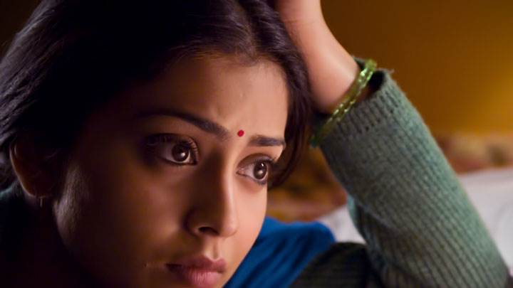 Shriya Saran Sad Cute Face Closeup