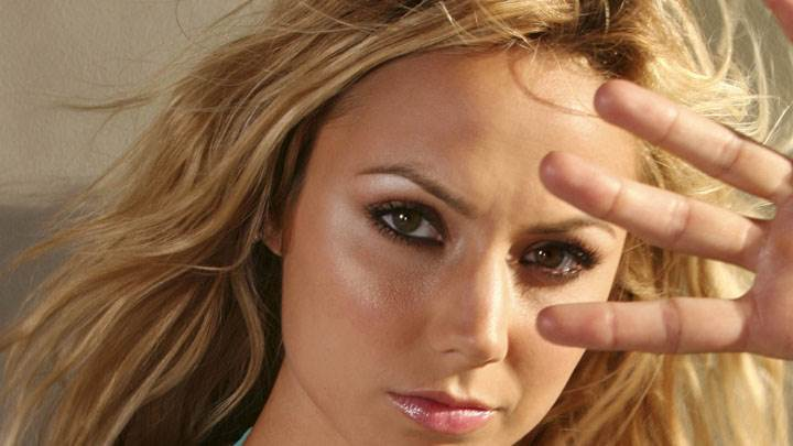 Stacy Keibler Wet Pink Lips Ultra Face Closeup