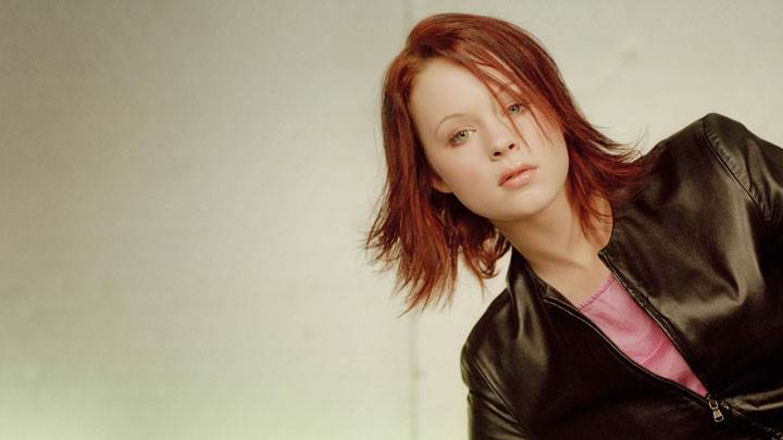 Thora Birch In Black Jacket Photoshoot