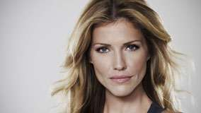 Tricia Helfer Blue Eyes And Wet Lips Face Closeup