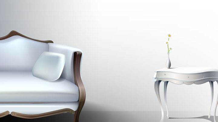 Swell White Half Sofa And White Table With White Background Wallpaper Gamerscity Chair Design For Home Gamerscityorg