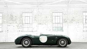 1951 Jaguar C-Type In Black Side Pose