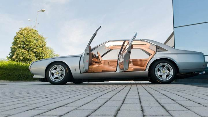 1980 Ferrari Pinin Prototipo Doors Open in White Side Pose