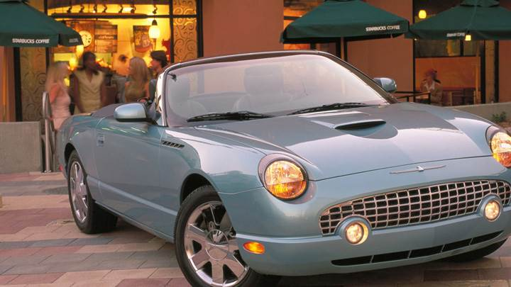 2002 Ford Thunderbird In Grey Side Front Pose