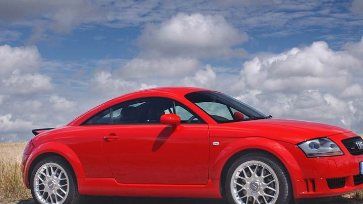 2003 Audi TT Coupe Side Pose In Red