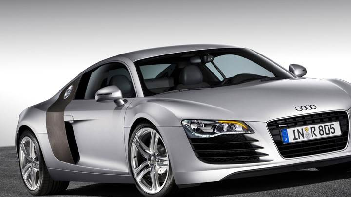2006 Audi R8 Front Side Pose In Silver