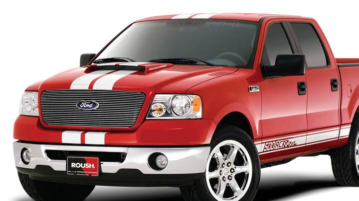 2006 Roush 500RC Front Pose in Red N White Background