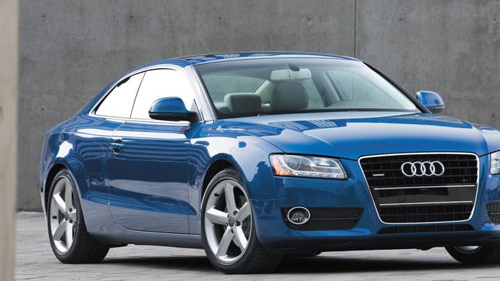 2008 Audi A5 In Blue Front Pose