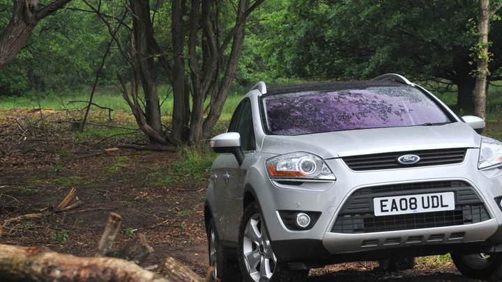 2008 Ford Kuga In Silver Front Pose In Forest