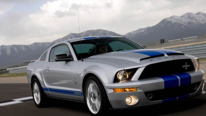 2008 Ford Shelby GT500KR Running On Race Course
